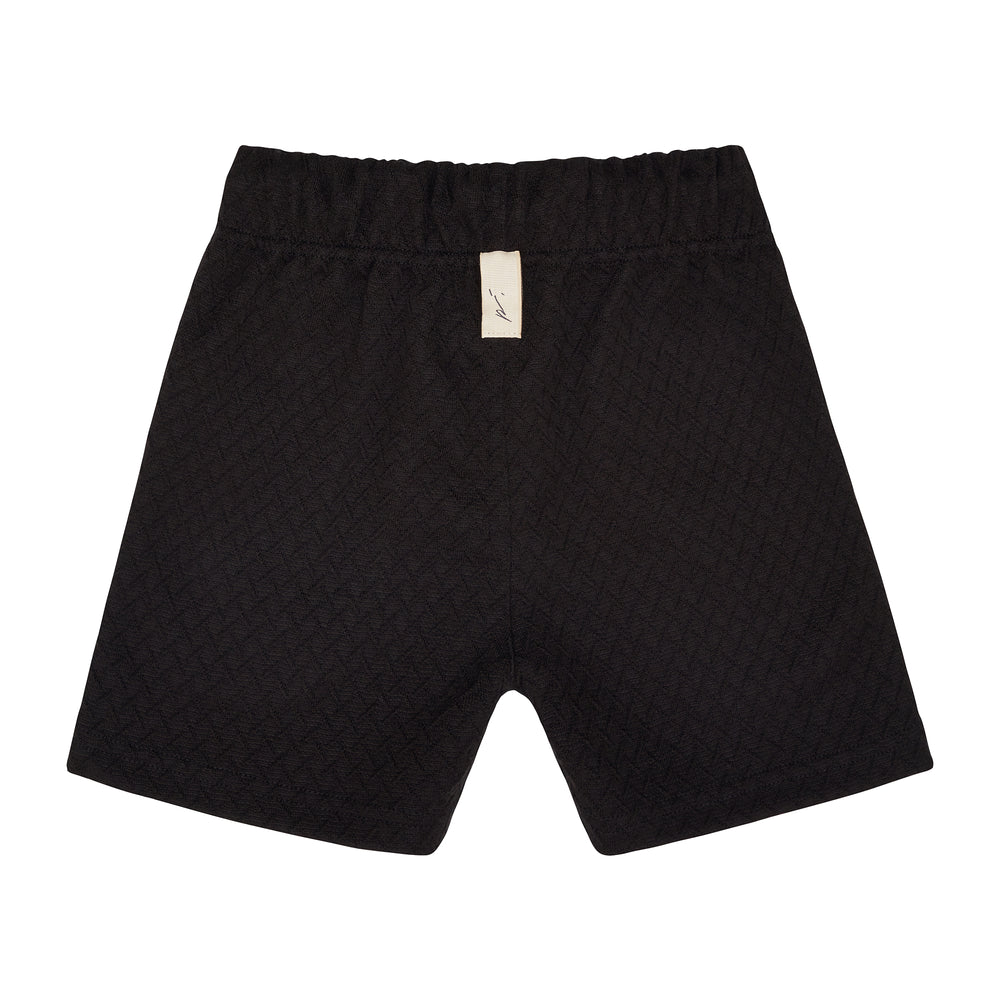 Kids Black Cruise Shorts - P r é v u . S t u d i o .
