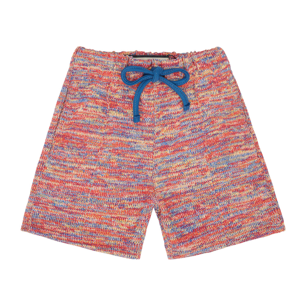 Kids Red Karaman Space Dye Shorts - P r é v u . S t u d i o .