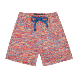 Load image into Gallery viewer, Kids Red Karaman Space Dye Shorts - P r é v u . S t u d i o .