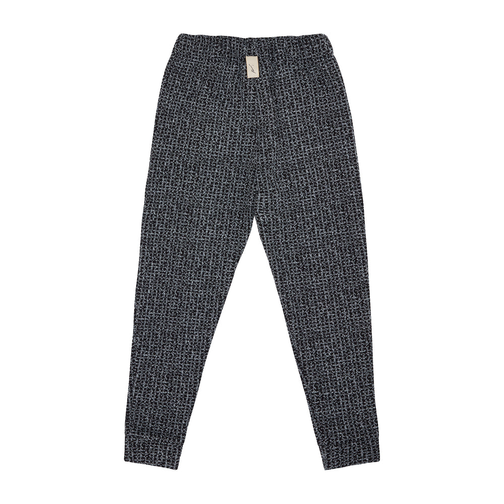 Load image into Gallery viewer, Kids Black Balfour Check Knitted Joggers - P r é v u . S t u d i o .