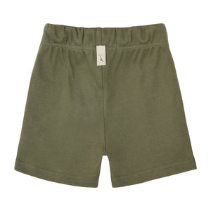 Load image into Gallery viewer, Kids Khaki Signature Logo Shorts - P r é v u . S t u d i o .