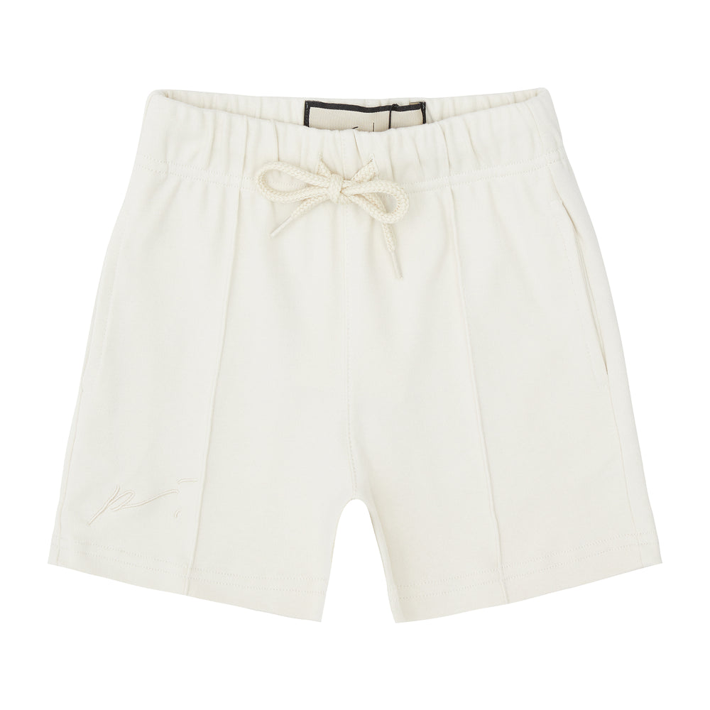 Load image into Gallery viewer, Kids Cream Signature Logo Shorts - P r é v u . S t u d i o .