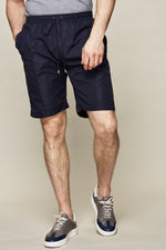 Navy Chesterton Lightweight Technical Slim Fit Shorts - P r é v u . S t u d i o .