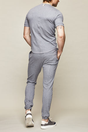 Load image into Gallery viewer, Grey Vetra Flecked Slim Fit T-shirt - P r é v u . S t u d i o .
