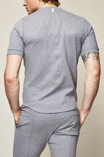 Grey Vetra Flecked Slim Fit T-shirt - P r é v u . S t u d i o .