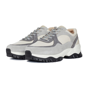 White and Grey Maxilla Chunky Trainers