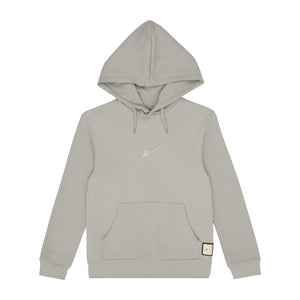 Load image into Gallery viewer, Kids Light Grey Signature Logo Hoodie - P r é v u . S t u d i o .