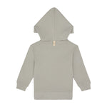 Kids Light Grey Signature Logo Hoodie - P r é v u . S t u d i o .