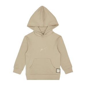 Load image into Gallery viewer, Kids Stone Signature Logo Hoodie - P r é v u . S t u d i o .