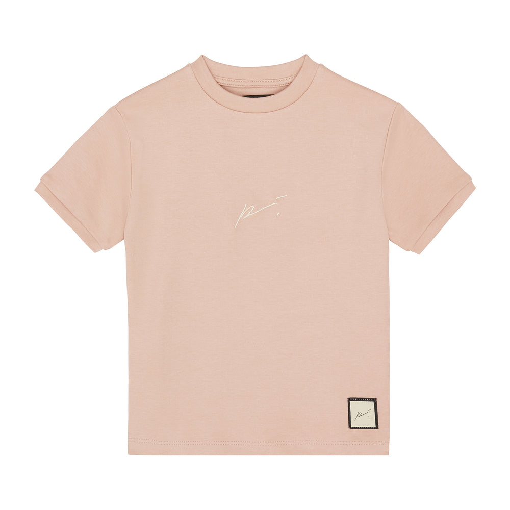 Load image into Gallery viewer, Kids Pink Signature Logo T-shirt - P r é v u . S t u d i o .