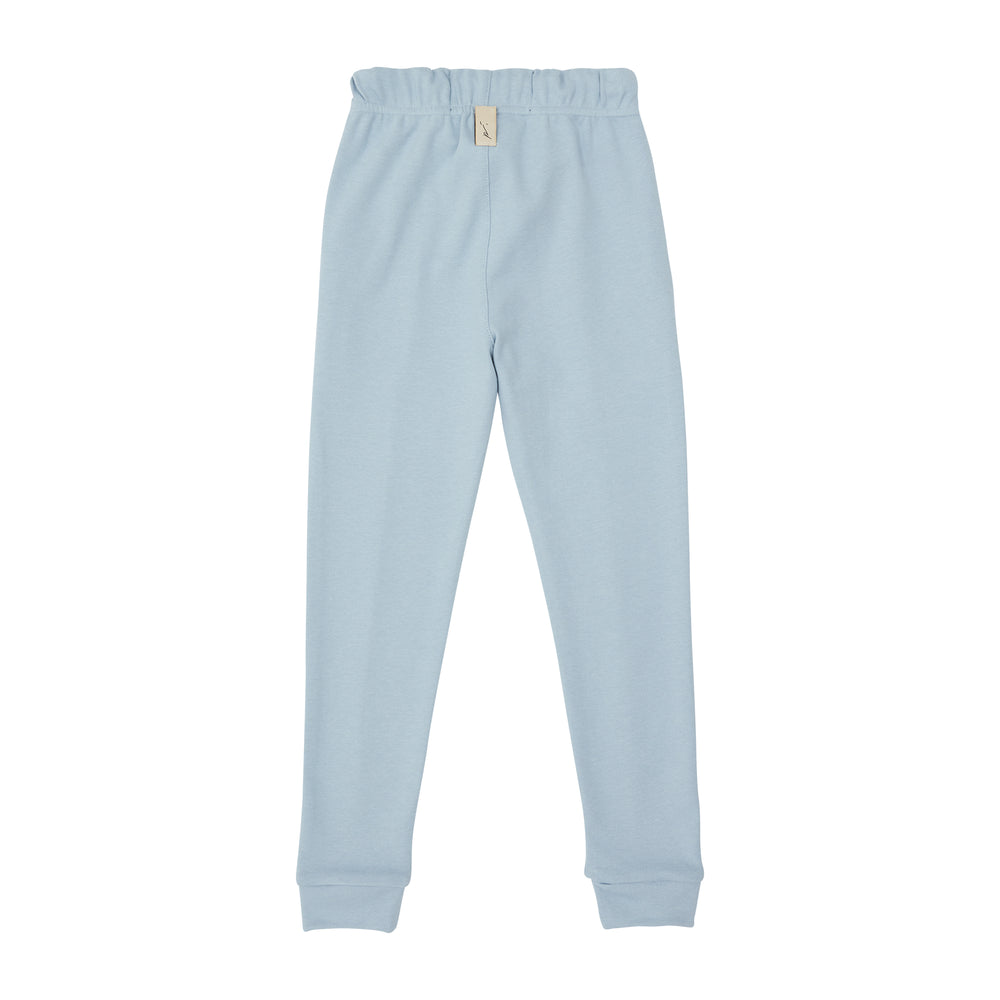 Load image into Gallery viewer, Kids Blue Signature Logo Joggers - P r é v u . S t u d i o .