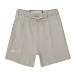 Kids Light Grey Signature Logo Shorts - P r é v u . S t u d i o .