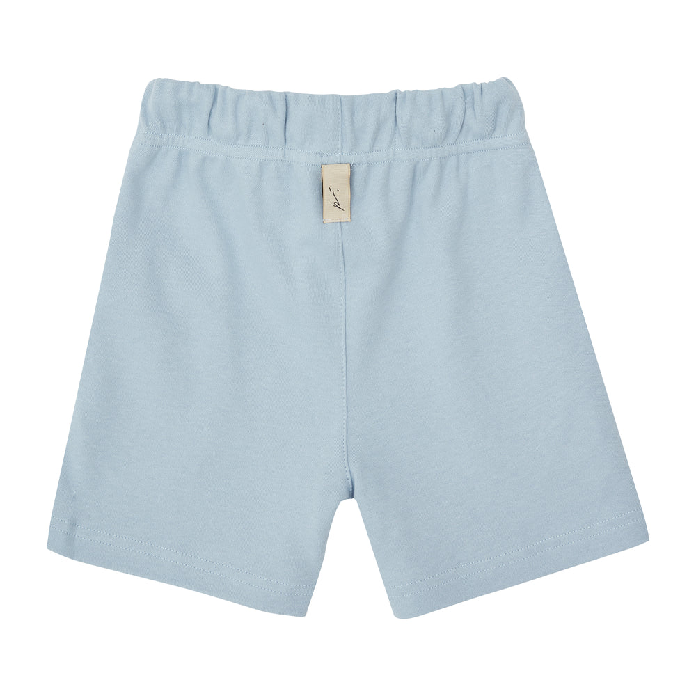 Load image into Gallery viewer, Kids Blue Signature Logo Shorts - P r é v u . S t u d i o .