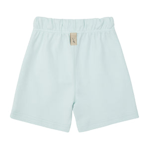 Load image into Gallery viewer, Kids Mint Green Signature Logo Shorts - P r é v u . S t u d i o .