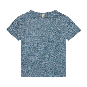 Load image into Gallery viewer, Kids Blue Gomera Knitted T-shirt - P r é v u . S t u d i o .