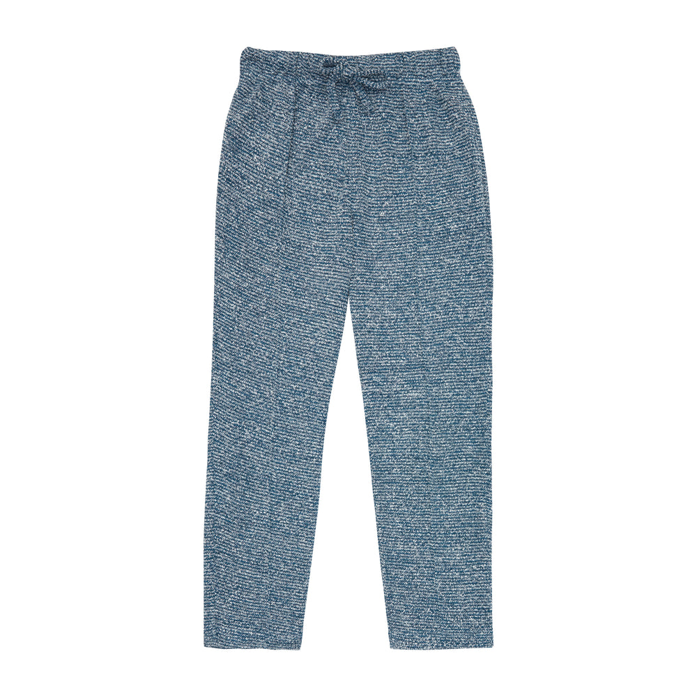 Load image into Gallery viewer, Kids Blue Gomera Knitted Joggers - P r é v u . S t u d i o .