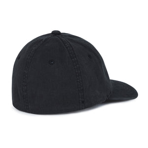 Load image into Gallery viewer, Washed Black Tri Logo Baseball Cap - P r é v u . S t u d i o .