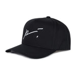 Black Signature Logo Snapback Hat