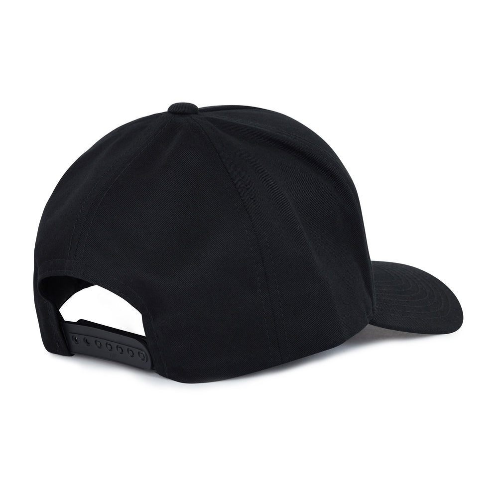 Load image into Gallery viewer, Black Tri Logo Snapback Hat - P r é v u . S t u d i o .