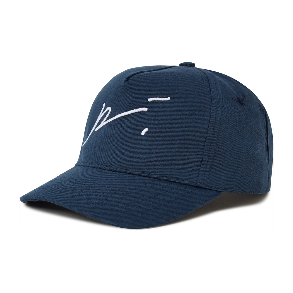 Load image into Gallery viewer, Kids Navy Signature Logo cap - P r é v u . S t u d i o .