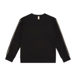 Kids Black Ripley Taped Sweatshirt - P r é v u . S t u d i o .