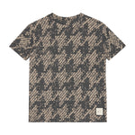 Kids Grey Graian Check T-shirt - P r é v u . S t u d i o .