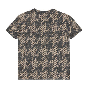 Load image into Gallery viewer, Kids Grey Graian Check T-shirt - P r é v u . S t u d i o .
