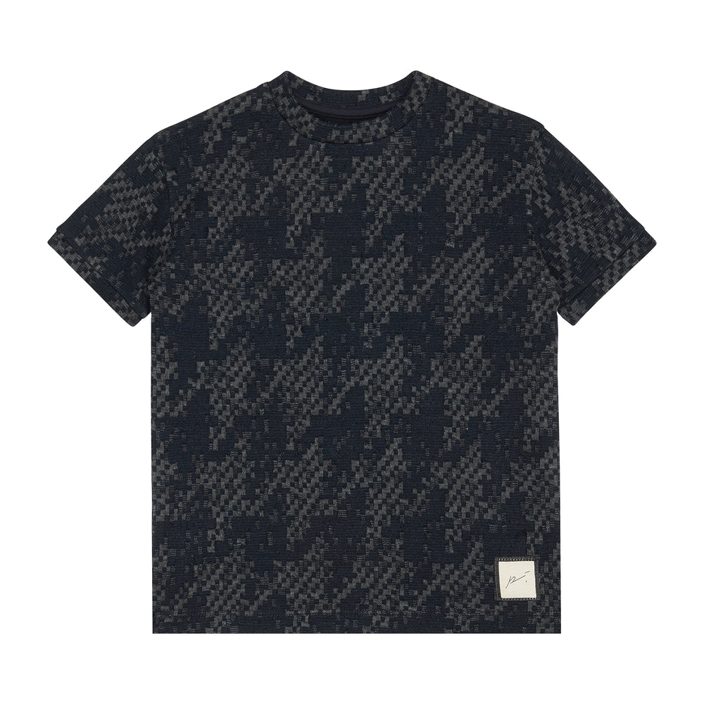 Kids Navy Graian Check T-shirt - P r é v u . S t u d i o .