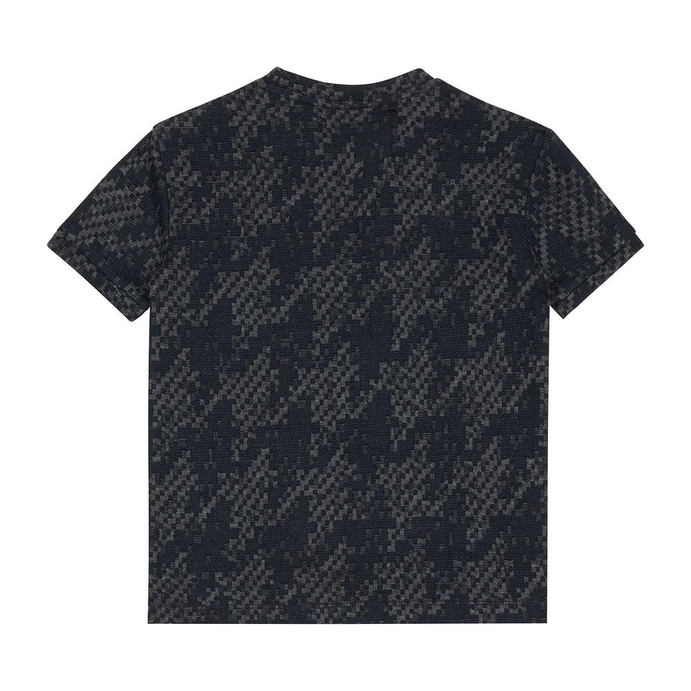 Load image into Gallery viewer, Kids Navy Graian Check T-shirt - P r é v u . S t u d i o .