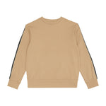 Kids Tan Ripley Taped Sweatshirt - P r é v u . S t u d i o .
