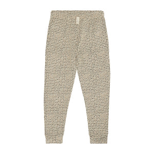 Load image into Gallery viewer, Kids Gold Aubain Check Joggers - P r é v u . S t u d i o .