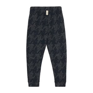 Load image into Gallery viewer, Kids Navy Graian Check Joggers - P r é v u . S t u d i o .