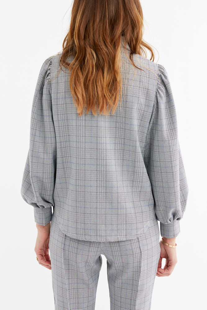 Women's Black and White Marano Check Shirt - P r é v u . S t u d i o .