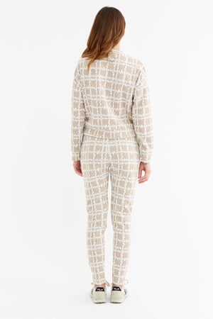 Load image into Gallery viewer, Women's Capello Nude Check Sweatshirt - P r é v u . S t u d i o .