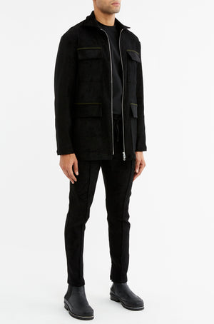 Load image into Gallery viewer, Black Geneva Contrast Parka Jacket - P r é v u . S t u d i o .