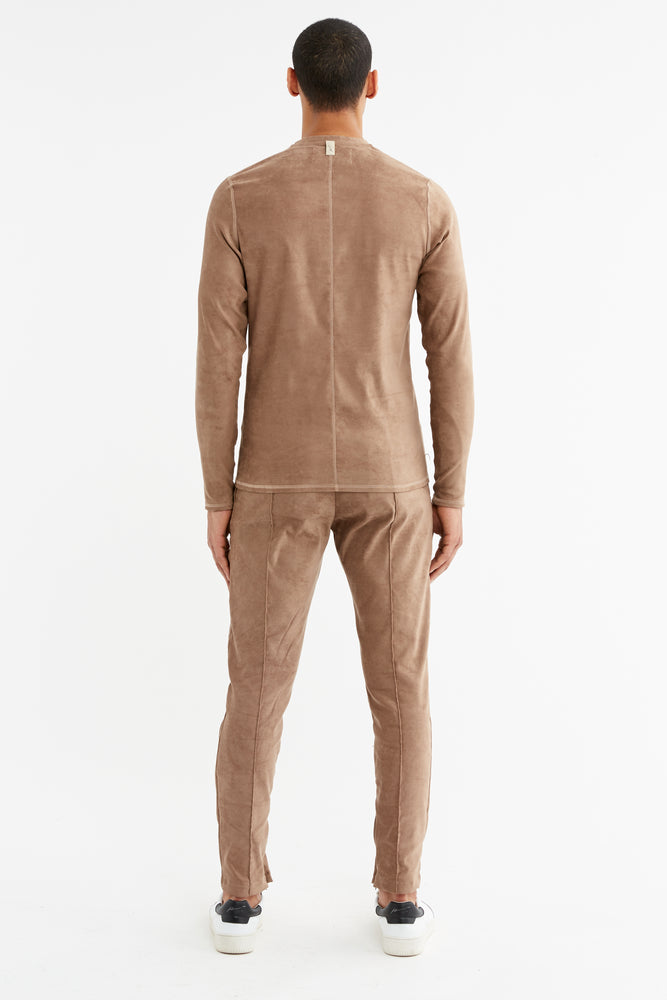 Load image into Gallery viewer, Tan Geneva Slim Fit Trousers - P r é v u . S t u d i o .