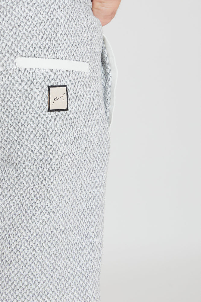 Load image into Gallery viewer, Grey Webster Geometric Knit Shorts - Prévu Studio