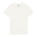 Kids White and Beige Signature Logo Print T-shirt - P r é v u . S t u d i o .