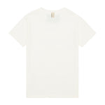 Kids White and Black Signature Logo Print T-shirt - P r é v u . S t u d i o .