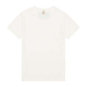 Load image into Gallery viewer, Kids White and Black Signature Logo Print T-shirt - P r é v u . S t u d i o .