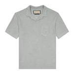Light Blue Astor Towelling Short Sleeve Slim Fit Polo - P r é v u . S t u d i o .