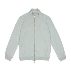 Light Blue Astor Towelling Track Jacket - P r é v u . S t u d i o .