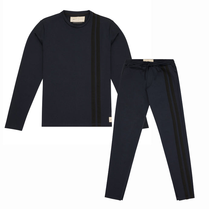 ARTHUR AVENUE NAVY TROUSER TWINSET