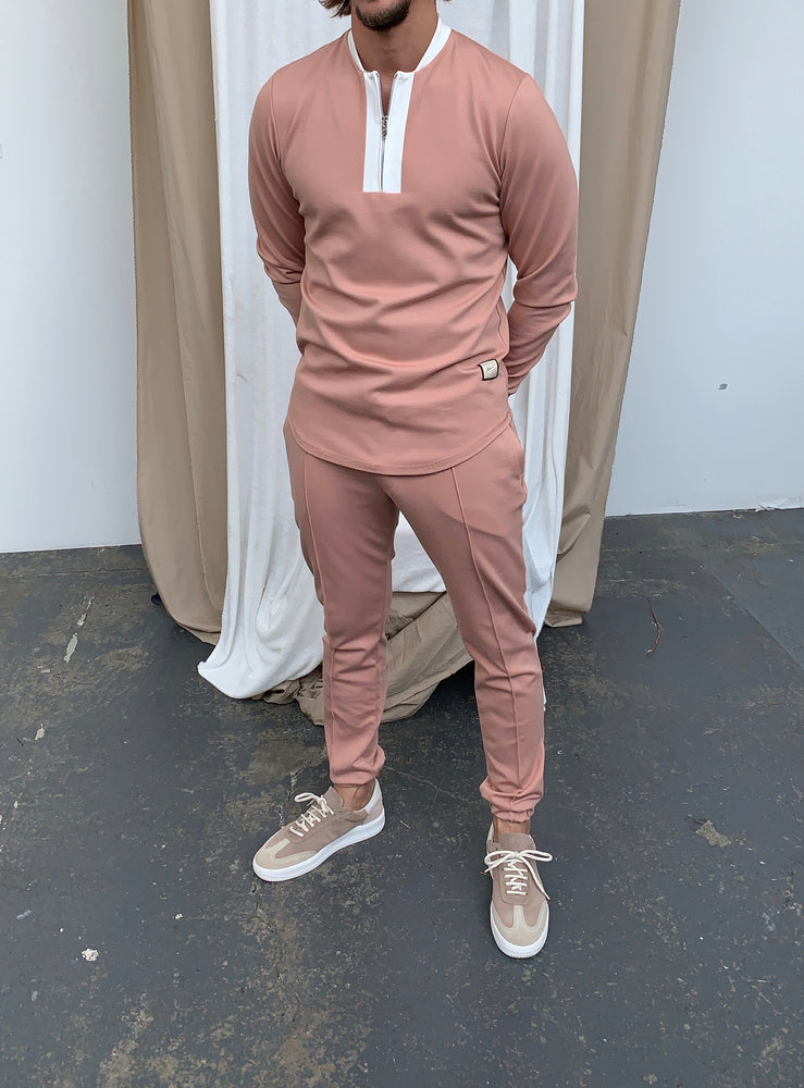 Pink Baron Slim Fit Trousers