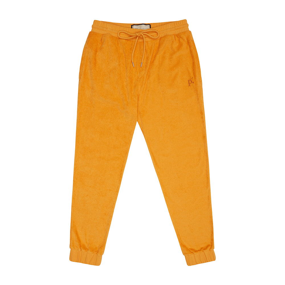 Orange Astor Towelling Joggers