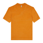 Orange Astor Towelling Short Sleeve Slim Fit Polo - P r é v u . S t u d i o .