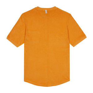 Orange Astor Towelling Short Sleeve Slim Fit T-Shirt