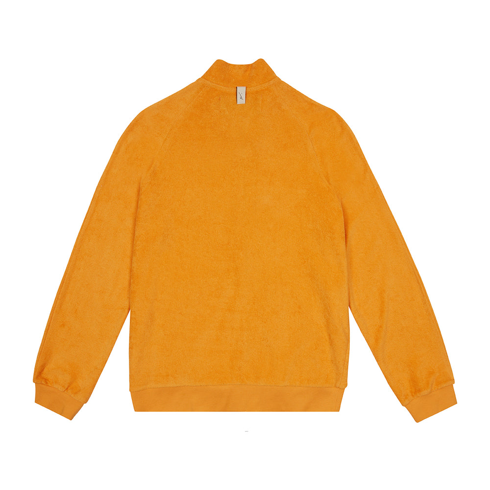 Orange Astor Towelling Track Jacket - P r é v u . S t u d i o .