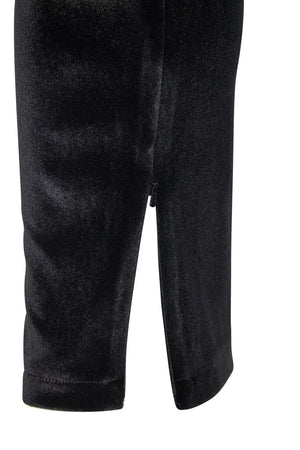 Grove Court Velvet Track Pant Black
