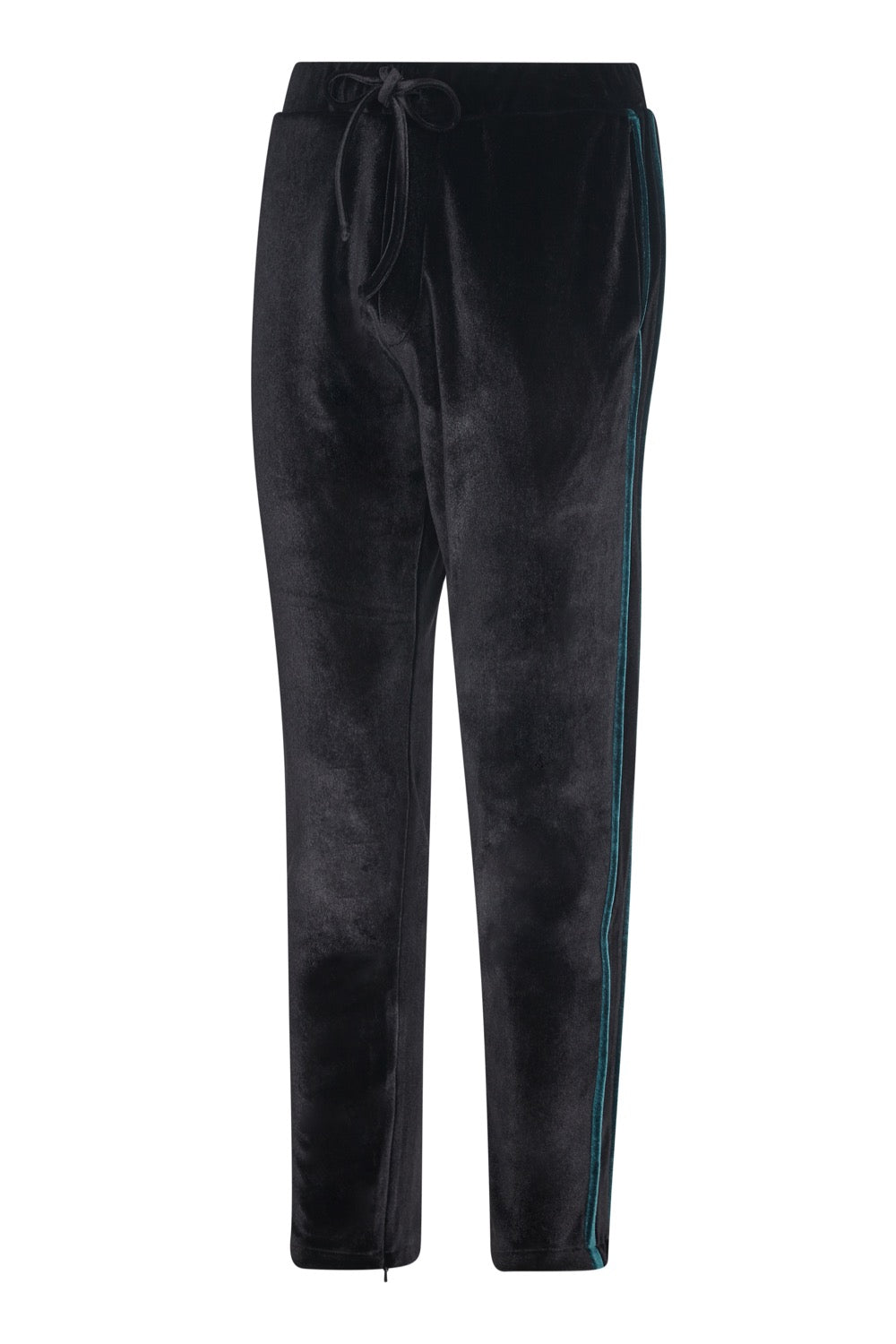 GROVE COURT BLACK VELVET TRACK PANT